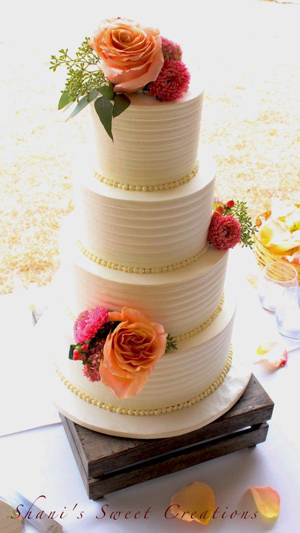 Sweet Art Cake Company Buttercream : Wedding Cake Gallery - Shani s Sweet Art