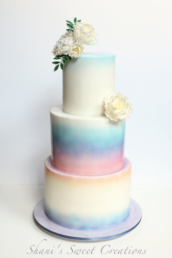 Water Colour Wedding Cakes