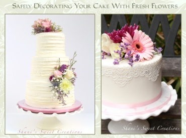 decorating cakes with fresh flowers guide