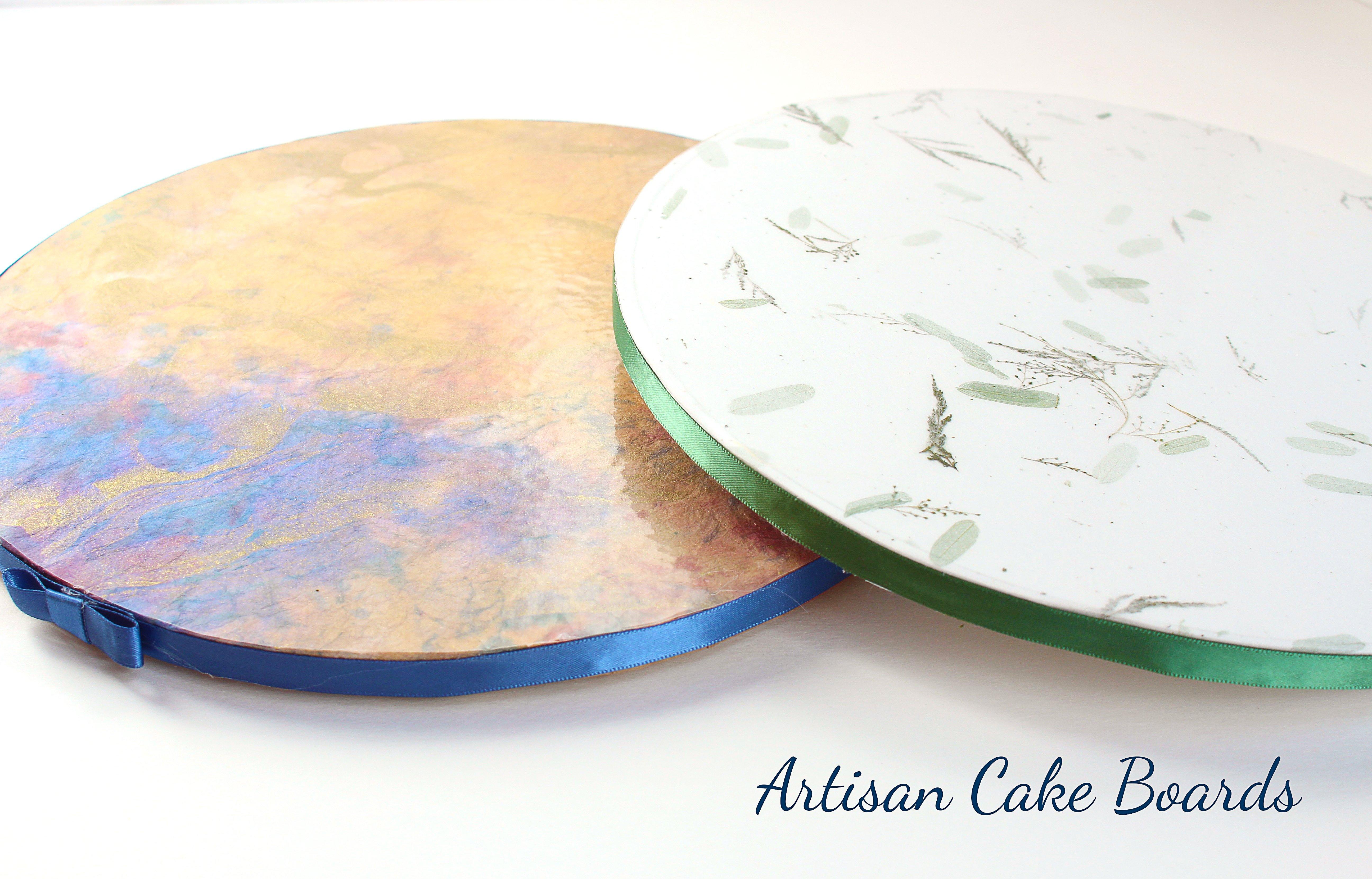 How to Make Beautiful Custom Cake Boards WITHOUT Fondant - Shani's Sweet Art