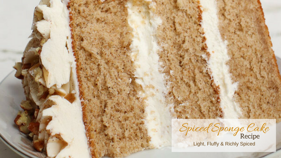 Cake Recipe Light And Fluffy: Light & Fluffy Spiced Sponge Cake Recipe ⋆ Shani's Sweet Art